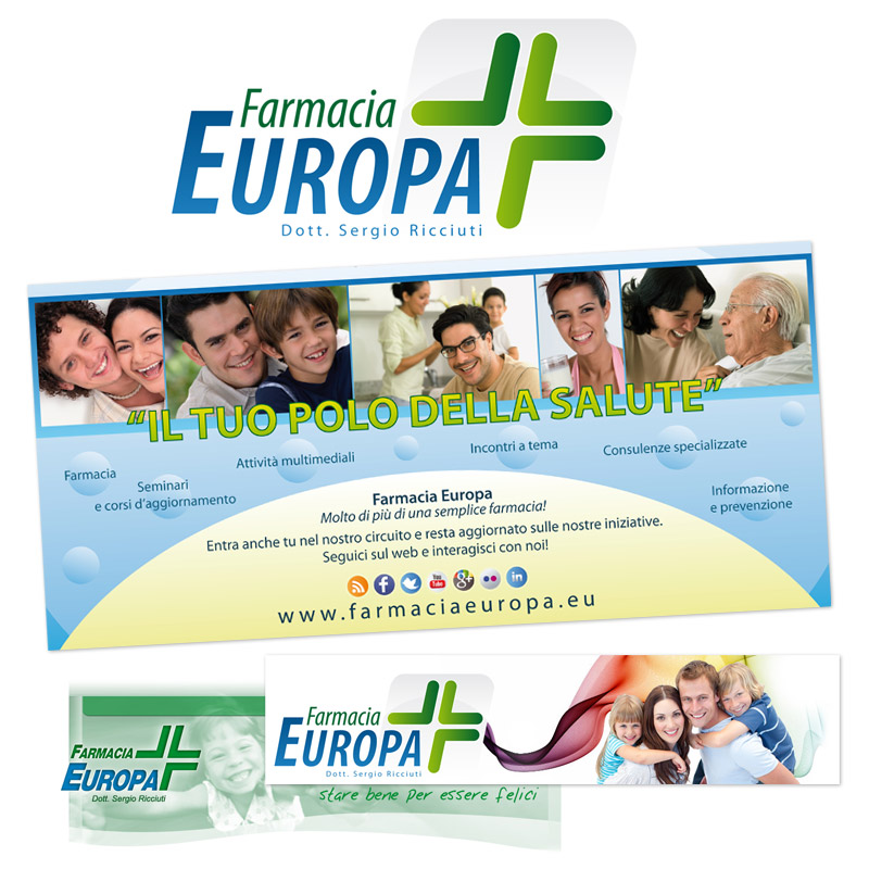 2012 - Logo and Advertising - Farmacia Europa